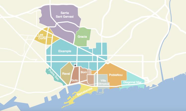 Barcelona Neighborhoods Map