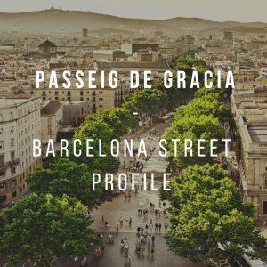 Passeig de Gràcia-Street profile and shops