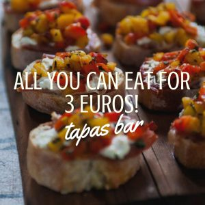 Tapas bar In Barcelona – All You Can Eat for 3 Euros!
