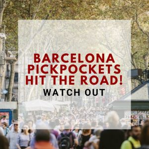 Barcelona pickpockets hit the road!