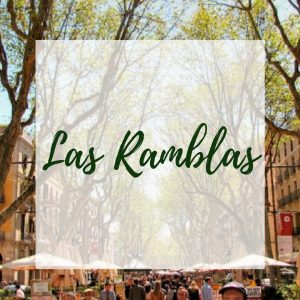 Las Ramblas street: One of the most famous street